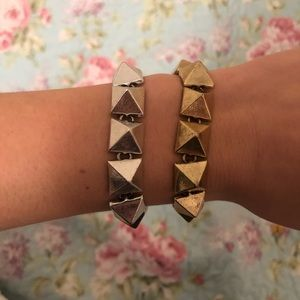 Lucky brand silver and gold bracelets